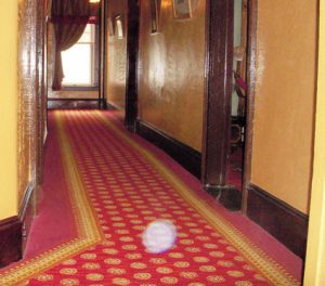 Thought form orb in upstairs hall