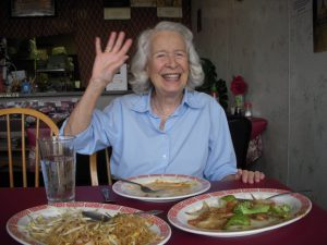 Anne Salisbury's mom, Physsie, practices her intuition in decision making. It guides her to a great meal!