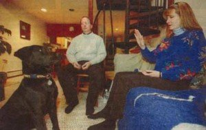 Anne Salisbury and Greg Meyerhoff give a pet psychic reading for the Summit Daily News, Frisco, CO 2003