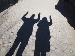 """Anne Salisbury and Greg Meyerhoff as shadows """"On the Other Side!"""""""