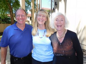 Greg Meyerhoff and Anne Salisbury enjoy meeting with Barbara Marx Hubbard at the ISSSEEM conference September 2016.